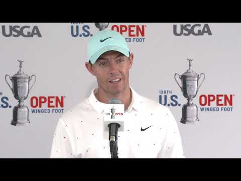 Rory McIlroy Thursday Flash Interview 2020 US Open - Round 1