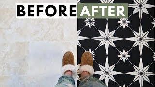 How To Stencil Tile Floors: The Basics