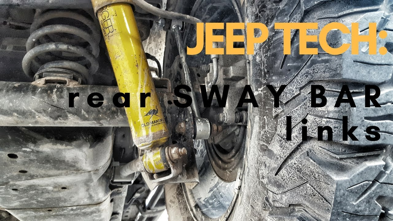 jeep build rubicon express rear sway bar links [ 1280 x 720 Pixel ]
