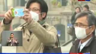 تقرير الصين تصدر ثاني إنذار احمر و تحذر من انتشار الضباب الدخاني  حلقة 18 12 2015 عبر قناة وطن الكرا