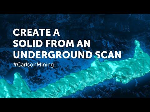 Create Solid from Underground Mine Scan | Carlson Mining