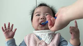 (뚠뚠얌얌) 옹알이와 개인기가 함께하는 이유식 먹방 9…