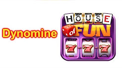 """HOUSE OF FUN Casino Slots Game How To Play """"Dynomine"""" Cell Phone"""