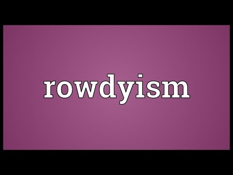 Header of rowdyism