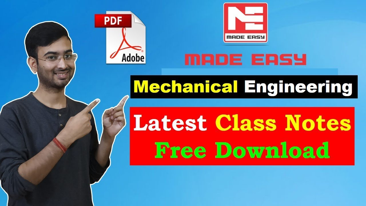 Download Mechanical Engineering Made Easy Free PDF Handwritten Notes for  GATE, IES, PSC