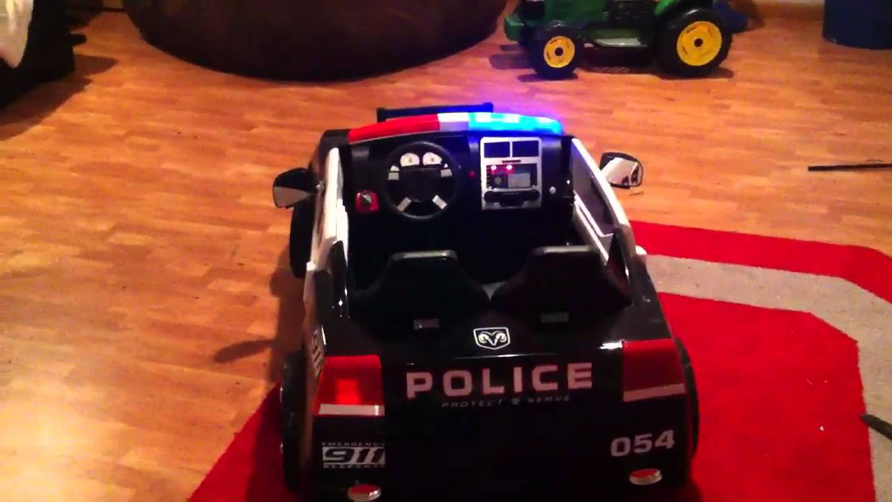 Dodge Charger Police Car >> Dodge Charger Police Power wheels - YouTube