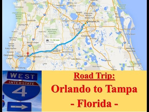 Welcome to FLORIDA - Road Trip from Orlando to Tampa (Via I.4 West)