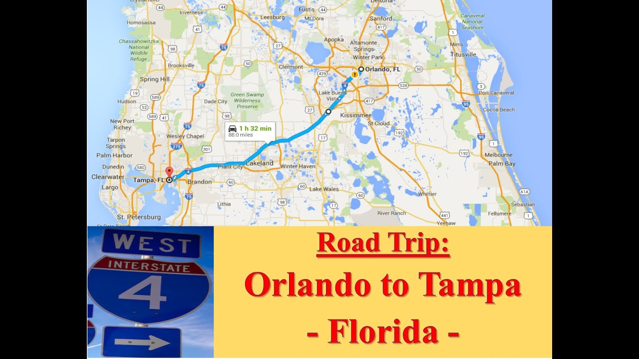 Welcome to FLORIDA Road Trip from Orlando to Tampa Via I4 West