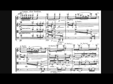 Alban Berg - String Quartet, Op. 3