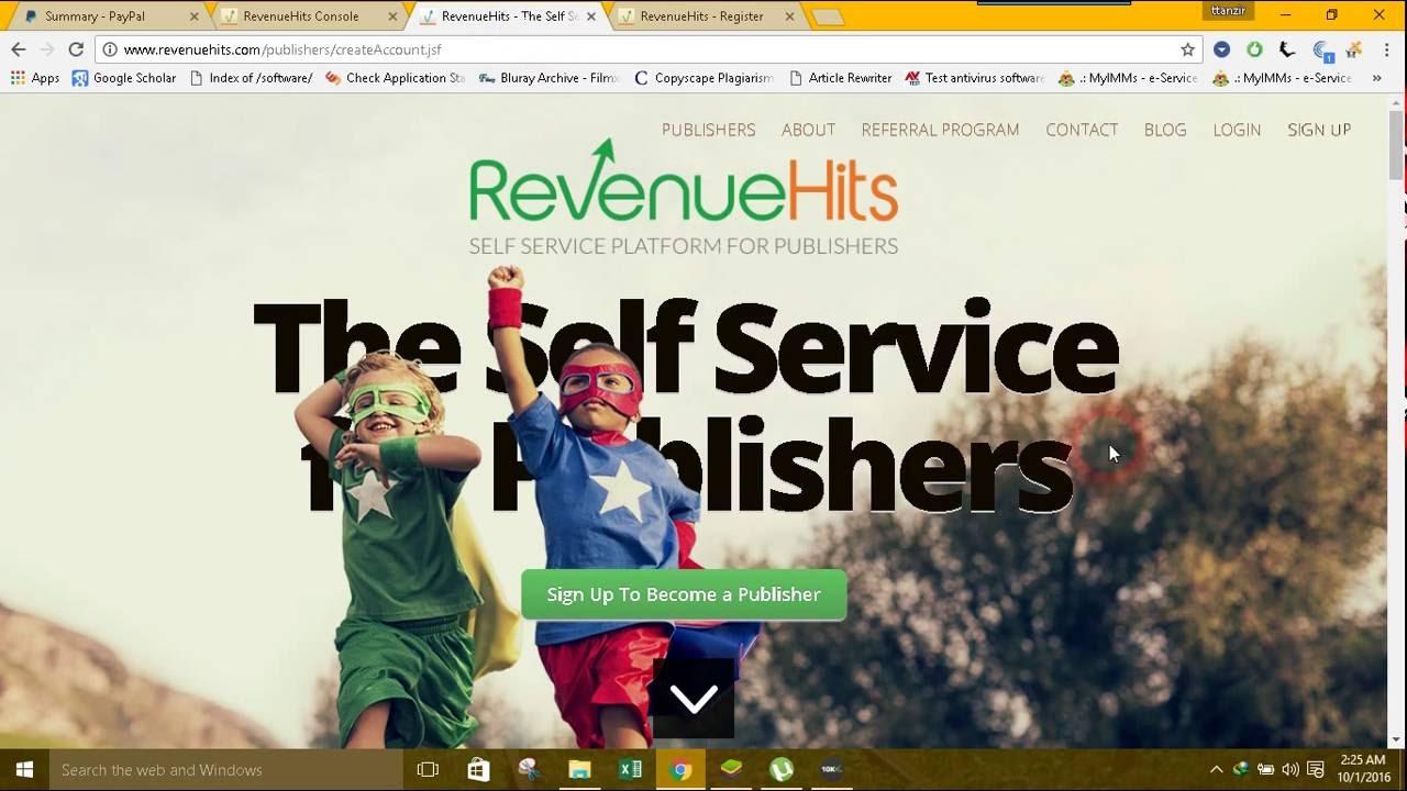 Image result for revenuehits register