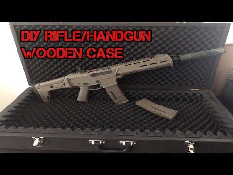DIY WOOD GUN CASE FOR RIFLE OR HANDGUN GEL BLASTER