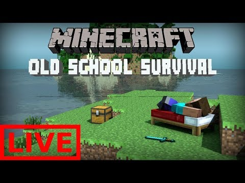 MINECRAFT: GOING BACK TO THE OLD SCHOOL SURVIVAL NO MODS NO HACKING NO CHEATING ALL LEGIT!!
