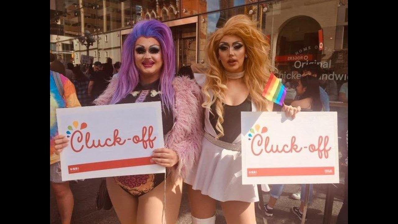 LGBTQ group protests opening of Toronto Chick-fil-A