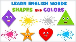Shapes And Colors - Pre School | Learn English Words Spelling Video For Kids