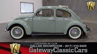 1963 Volkswagen Beetle Ragtop Stock #209 Gateway Classic Cars of Dallas