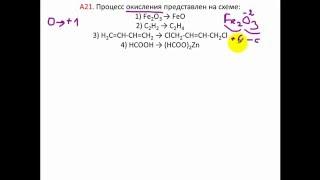 Тесты по химии. Процесс окисление. А21 ЦТ 2006