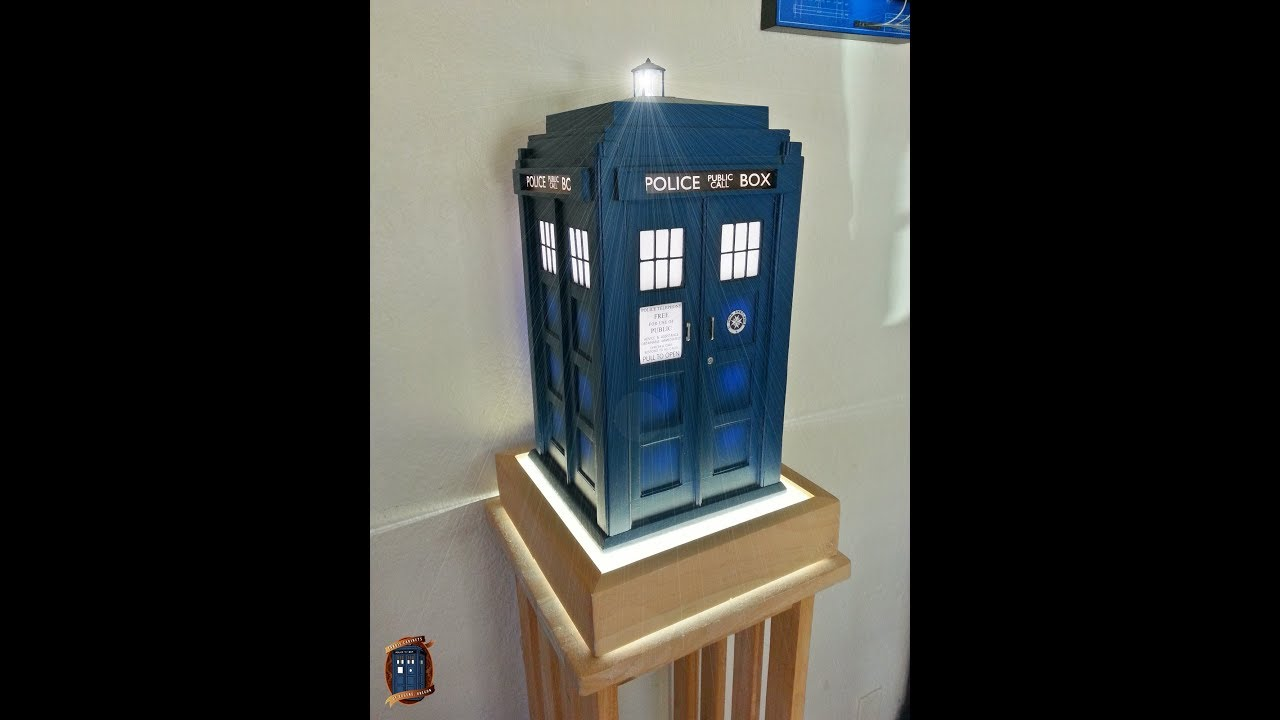 This is a 16th scale tardis inspired table lamp youtube this is a 16th scale tardis inspired table lamp mozeypictures Gallery