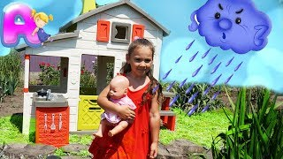 Anna play with playhose for kids / Funny story for kids