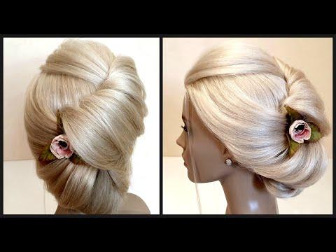 Красивые-прически.Быстрая-Свадебная-прическа.beautiful-hairstyles.quick-bridal-hairstyle