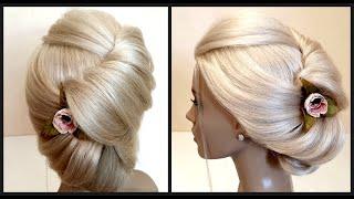 Красивые прически.Быстрая Свадебная прическа.Beautiful hairstyles.Quick bridal hairstyle