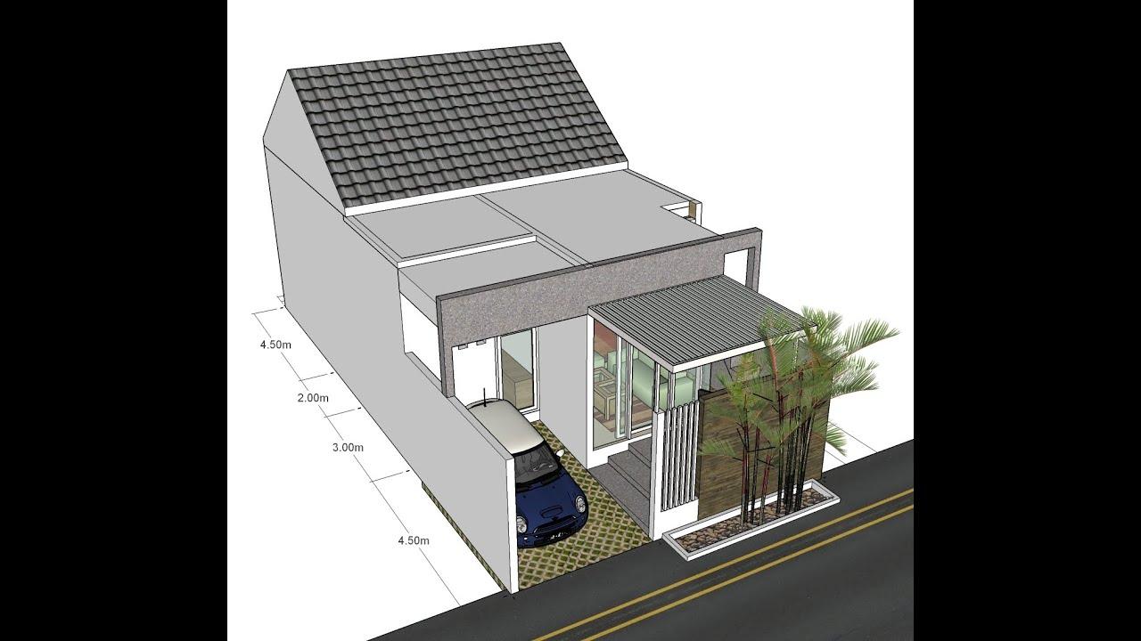 Desain Rumah Dengan Ruang Ruang Yang Memanjang Lahan 7x14m YouTube