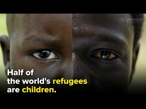 Half of the world's refugees are children