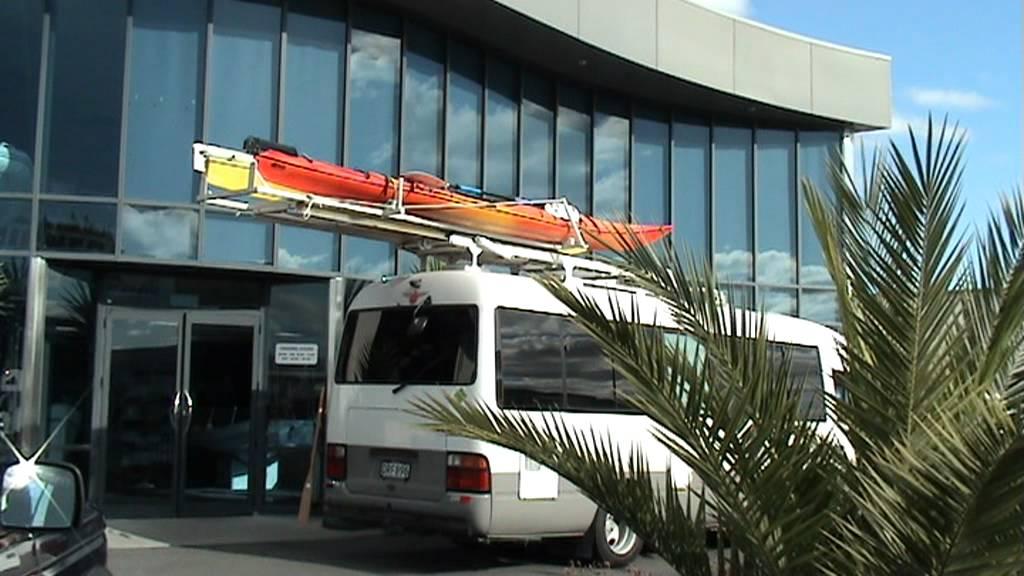 Kayak On Roof >> Topsto RV storage solution kayaks surfboards skis bikes - YouTube