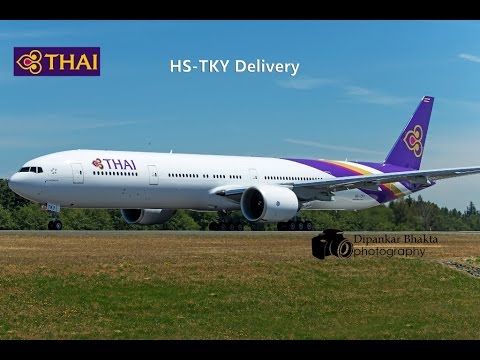 HS-TKY Thai latest 777-300ER delivery from PAE to Suvarnabhumi Bangkok Intl THA8935