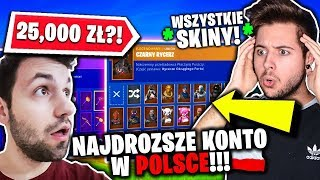 THE MOST EXPENSIVE ACCOUNT IN FORTNITE IN POLAND! 🇵🇱 * ALL SKINS! * (ENTRY TO ACCOUNT: PACZOL)