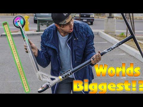 BUILDING WORLDS BIGGEST CUSTOM PRO SCOOTER!