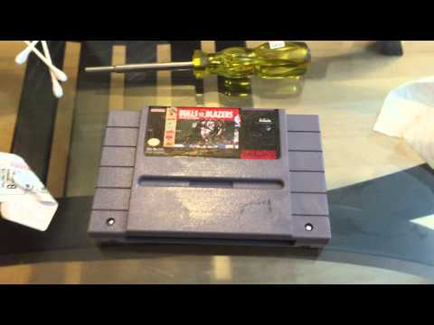 Snes Cartridge Clean up inside & out!