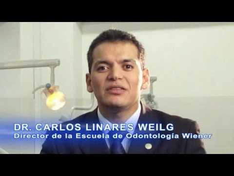 Dr. Carlos Linares Weilg presentando la carrera de Odontologia Universidad Wiener