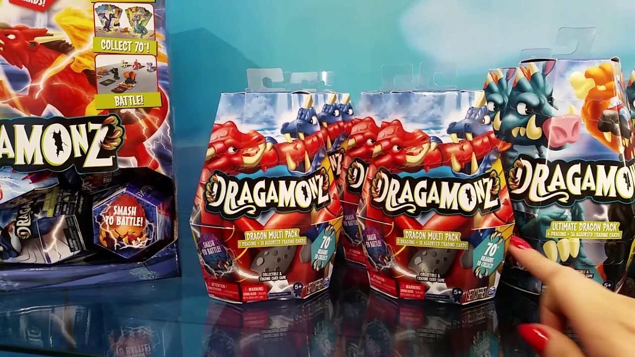 Dragamonz Ultimate Dragon Pack Collectible Figure /& TCG 6 Dragons /& 36 Cards