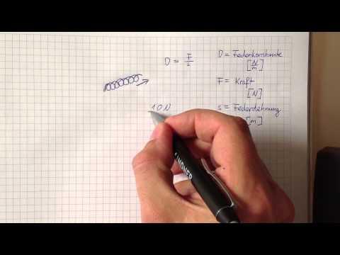 Hookesche Gesetz verstehen - Physik Grundwissen