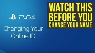 PSN Name Change All The Info - How To Change Your PS4 Gamertag (PS4 Name Change)