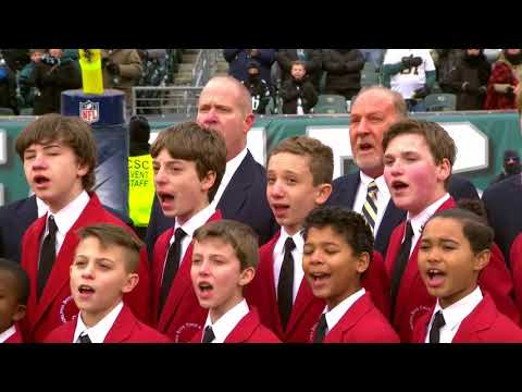 Eagles Week 17 - National Anthem Philadelphia Boys Choir & Chorale