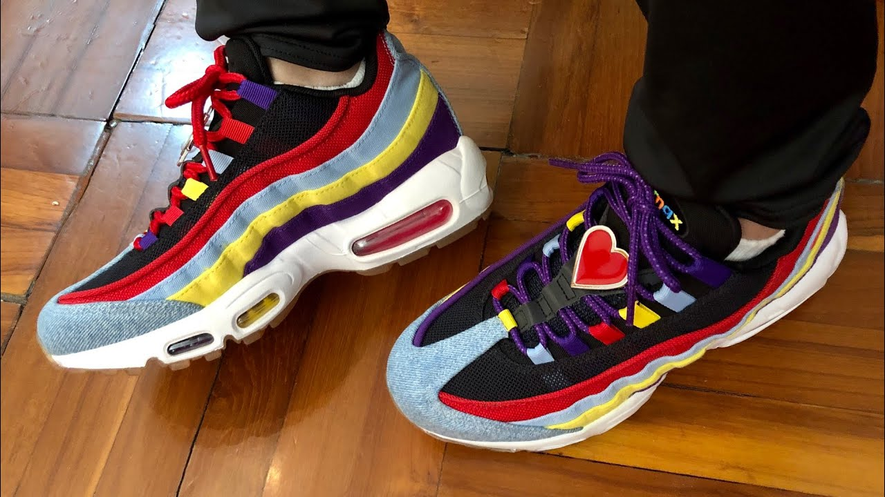 Nike Air Max 95 Qs Sp Psychic Blue Multi Color With Oversized