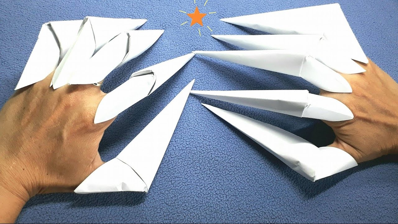 How to make paper origami halloween claws youtube how to make paper origami halloween claws jeuxipadfo Image collections