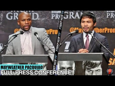 FLOYD MAYWEATHER VS. MANNY PACQUIAO - FULL VIDEO - Full Press conference-Los Angeles