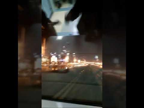 Night ride of Dubai Metro