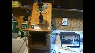 Swedish American Wooden Wall Telephone