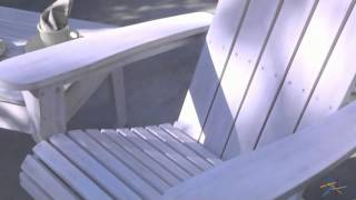 Cape Maye Weathered Adirondack Rocker - Antique White - Product Review Video