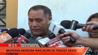 MICREROS ANUNCIAN NIVELACIÓN DE PASAJES DESDE FEBRERO