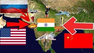 क्या हो अगर अमेरिका रूस और चीन एक साथ भारत पर हमला कर देते हैं | USA,China & Russia attacked India