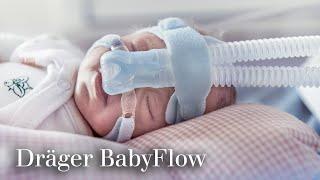 Dräger BabyFlow: система NCPAP-терапии для новорожденных. Видеоруководство.