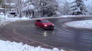 Audi RS3 sportback snow drift   hits the snow