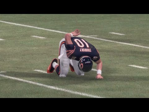 Trubisky Hurt in First Game? Chicago Bears vs Minnesota Vikings - Monday Night Football (Madden 18)