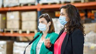 Visita al almacén de material sanitario del Gobierno de La Rioja