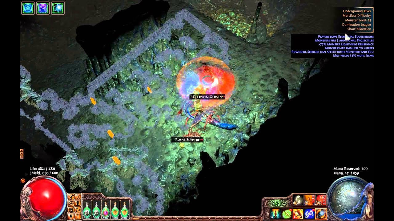 path of exile underground river map boss lvl 74 youtube