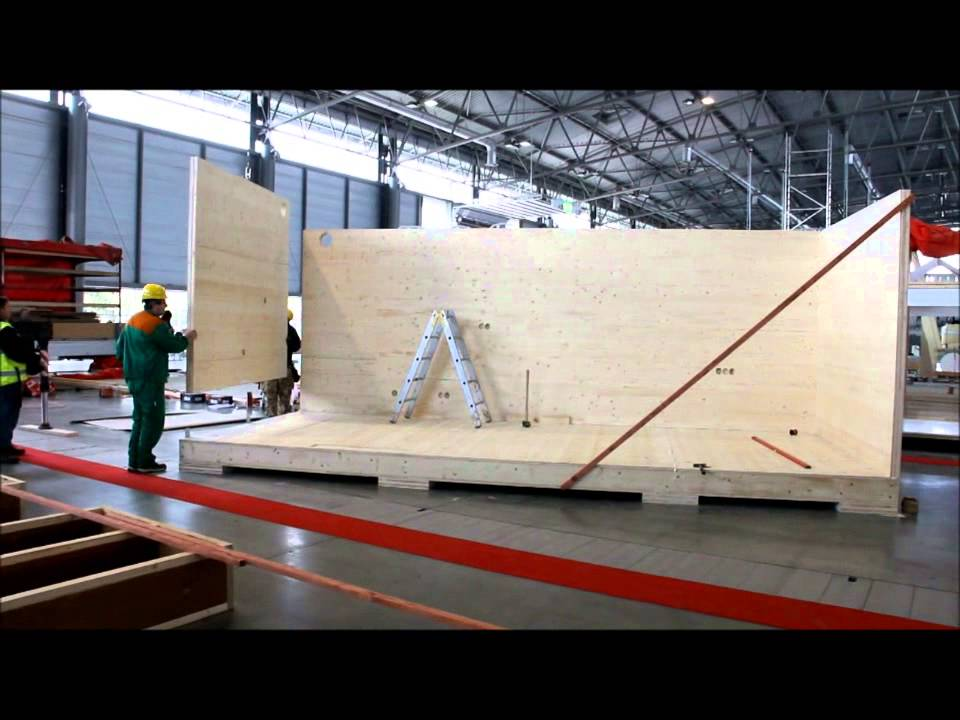 Berühmt Der Bau des mobilen Passivholzbaues vor den Augen der Zuschauer an GA05